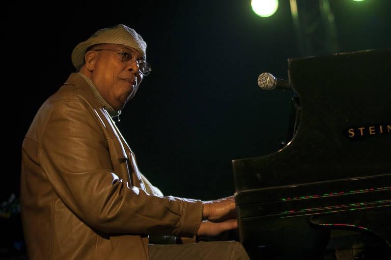 O pianista cubano Chucho Valdés durante apresentação em São Paulo, em 2011
