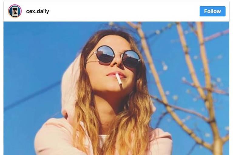 Perfil no Instagram que usa hashtags para promover marcas de cigarro sutilmente, driblando as regras