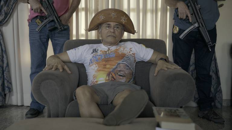 """O juiz Odilon de Oliveira, que prendeu traficantes como Fernandinho Beira-Mar, em cena do documentário """"Odilon, Réu de Si Mesmo"""""""
