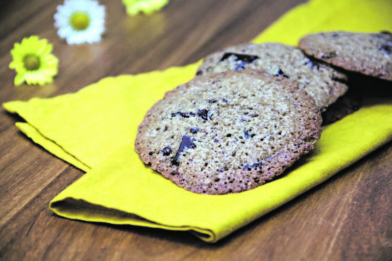Cookie de chocolate vegano da Flor Gil Demasi, filha da apresentadora Bela Gil