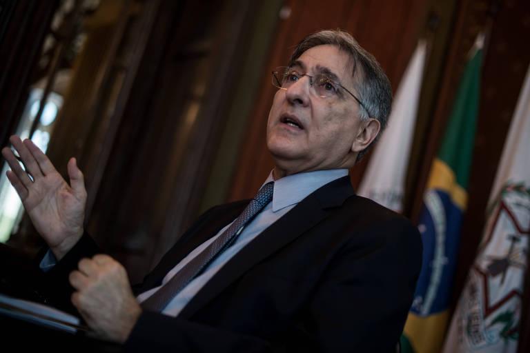 O ex-governador de Minas Gerais, Fernando Pimentel, em entrevista no Palácio da Liberdade