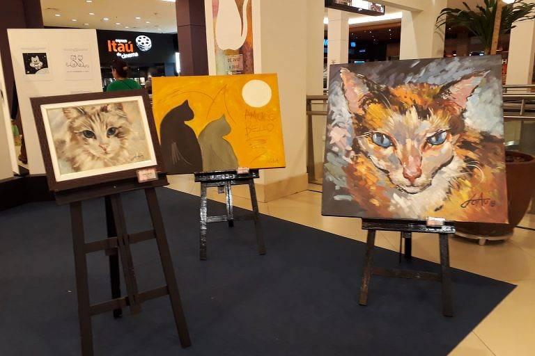 Exposição Pintando Gatos