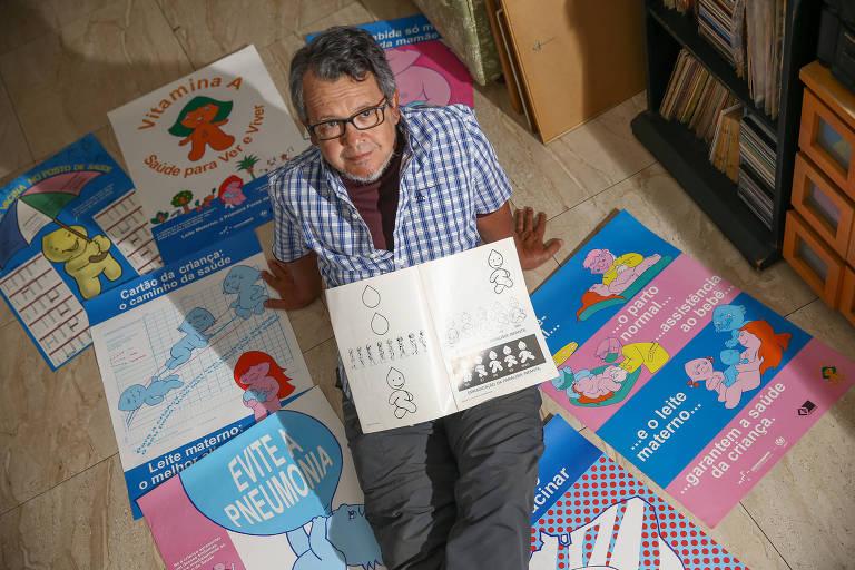 Darlan Rosa, que criou o personagem Zé Gotinha há 30 anos