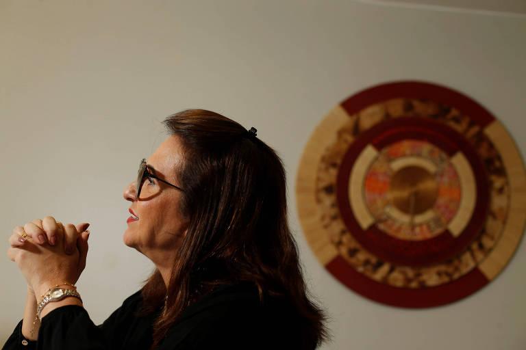 A senadora Kátia Abreu, candidata a vice na chapa de Ciro Gomes