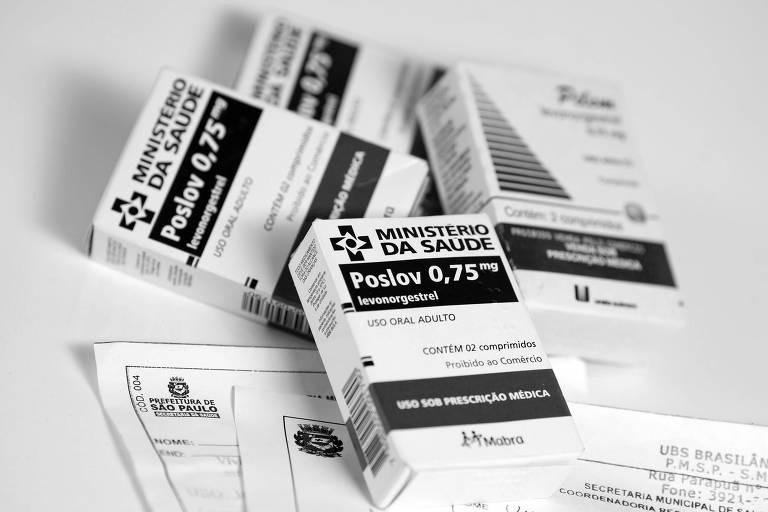 Caixas de pílulas do dia seguinte