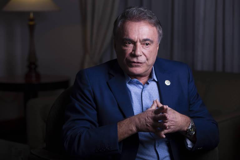 O candidato à Presidência Alvaro Dias (Pode) durante entrevista à Folha de S.Paulo