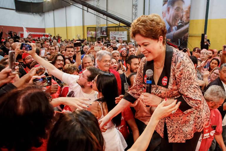 Dilma Rousseff, candidata ao Senado pelo PT nas eleições de 2018