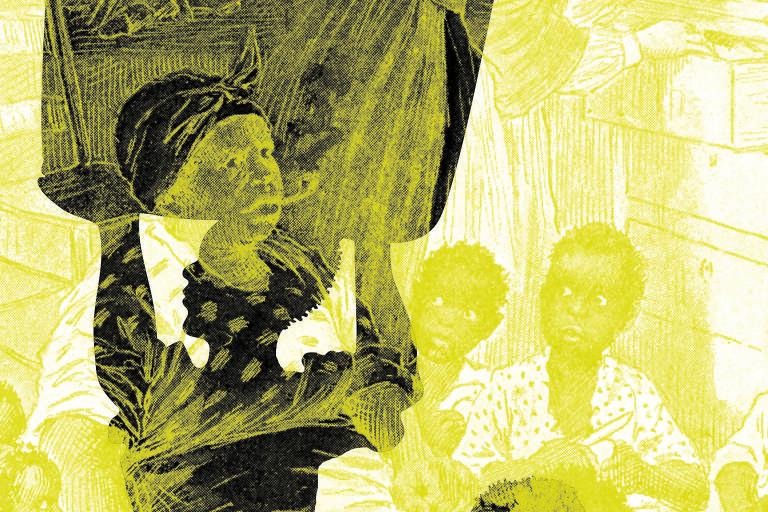 Ilustrações de Mateus Valadares em Cabana do Pai Tomás, lançado pela Carambaia