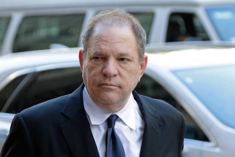 Harvey Weinstein depõe à polícia nova-iorquina, em julho de 2018
