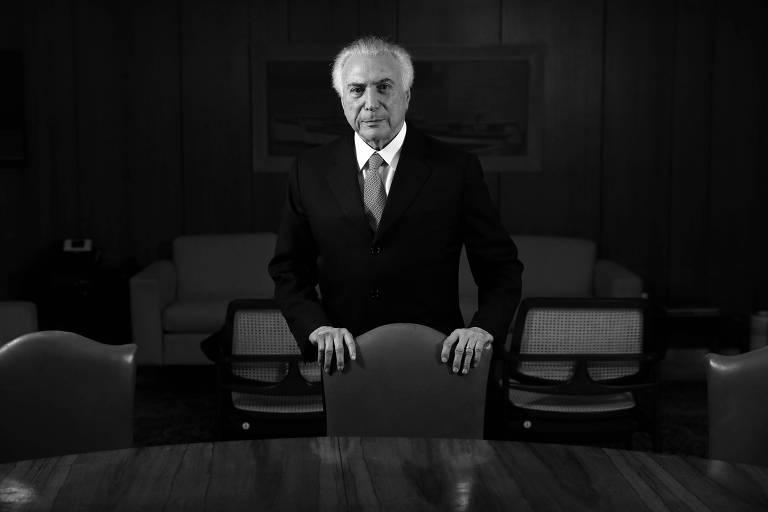 O presidente da República, Michel Temer, em seu gabinete no Palácio do Planalto