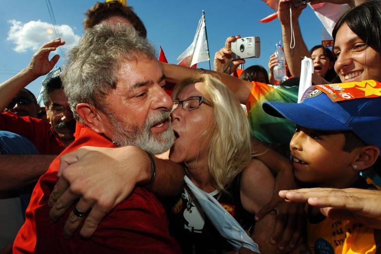 O ex-presidente Lula, na campanha de 2006