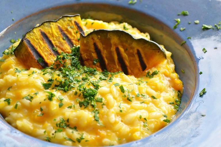 Risoto de abóbora com queijo