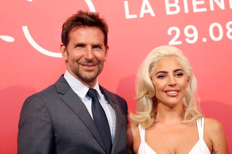 Lady Gaga e Bradley Cooper no Festival Internacional de Cinema de Veneza, na Itália