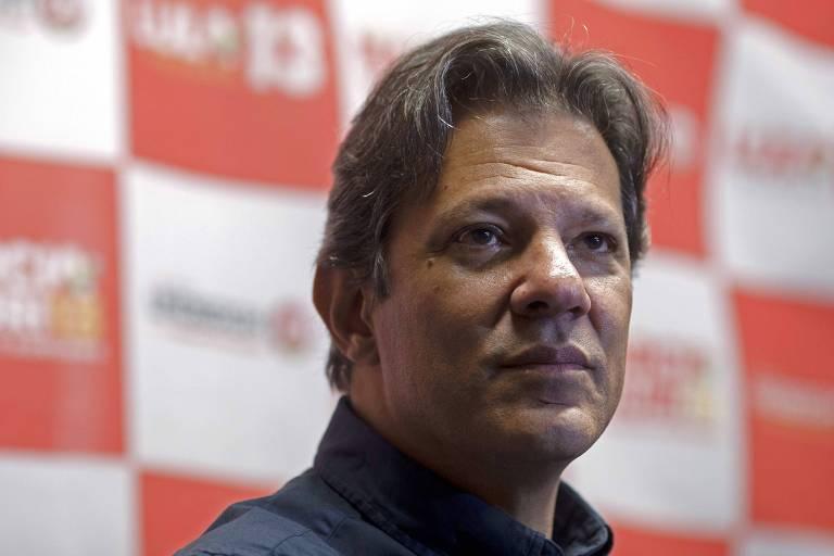 O ex-prefeito de São Paulo Fernando Haddad, que deve assumir o lugar de Lula na chapa do PT