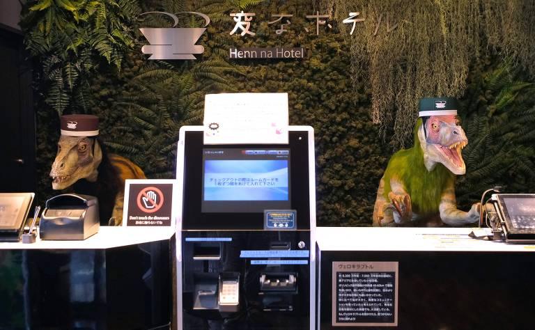 Hotel no Japão tem dinossauros robôs como recepcionistas