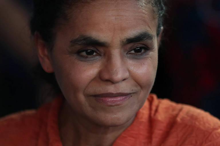 Candidata Marina Silva durante agenda de campanha no Rio de Janeiro