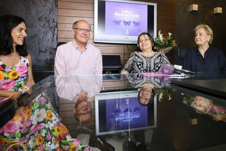O Candidato à Presidência pelo PSDB, Geraldo Alckmin visita o  Instituto  Maria da Penha, em Fortaleza