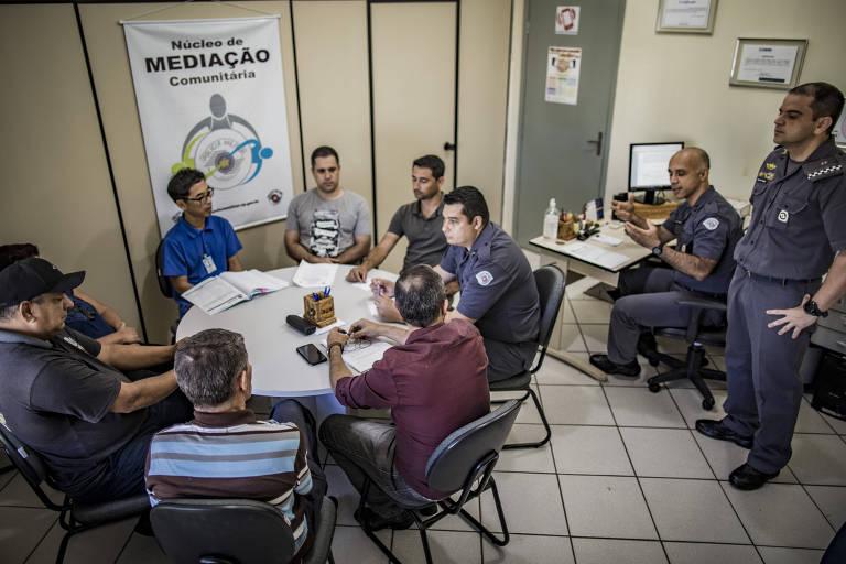 Núcleo de mediação da PM em Araçatuba (SP)