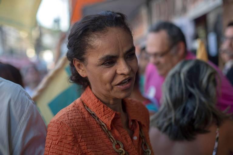 Candidata à Presidência pelo partido Rede, Marina Silva