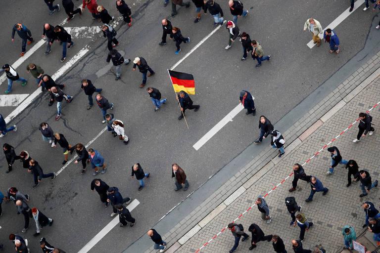 Protestos pró e antifascistas na Alemanha
