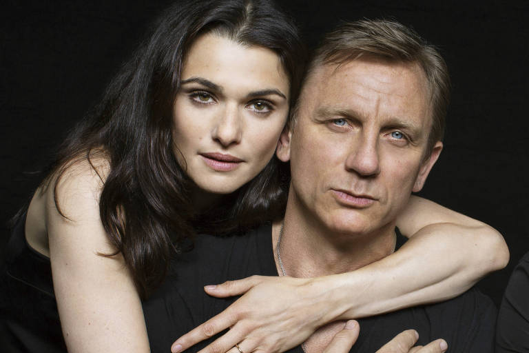 Os atores Rachel Weisz e Daniel Craig