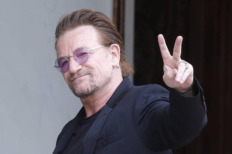 O cantor Bono Vox