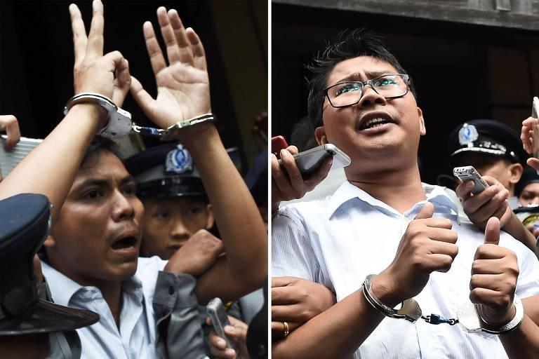 Mianmar condena jornalistas que reportaram repressão a rohingyas