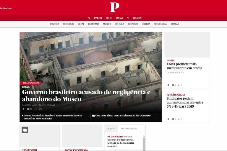 Imprensa internacional repercute incêndio no Museu Nacional