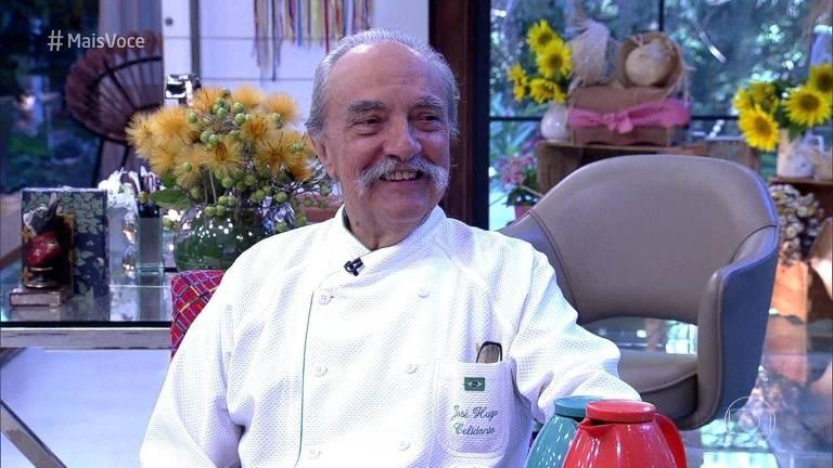 """O chef José Hugo Celidônio no programa """"Mais Você"""" em 2016"""
