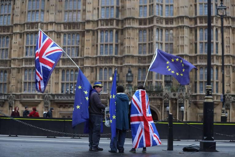 Protesto em Londres contra a decisão britânica de deixar a União Europeia