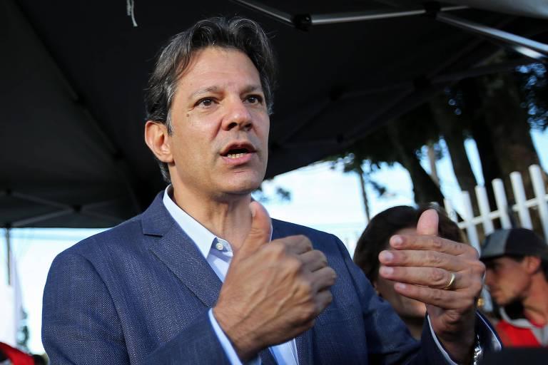 O ex-prefeito de São Paulo Fernando Haddad (PT), provável substituto de Lula na corrida presidencial
