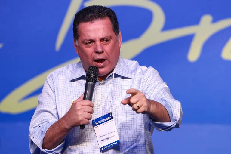 O ex-governador de Goiás Marconi Perillo durante a Convenção Nacional do PSDB, em Brasília