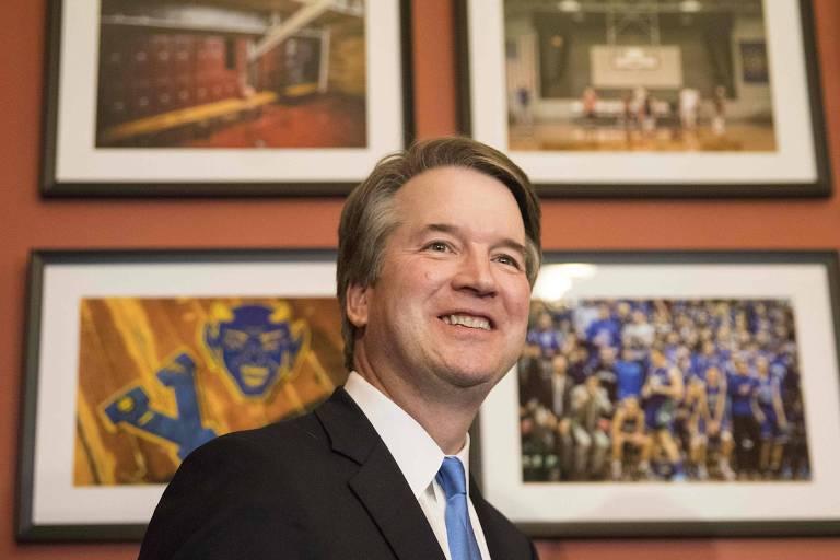 Brett Kavanaugh, indicado à Suprema Corte dos EUA, em escritório de senador em Washington