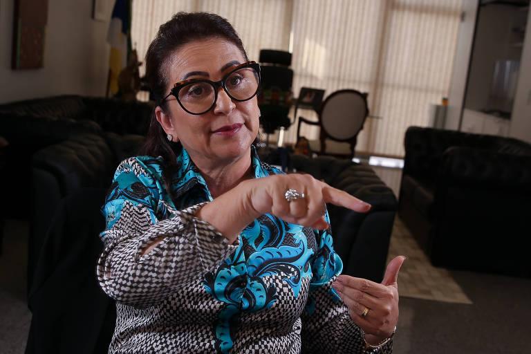 A senadora Kátia Abreu (PDT-TO), candidata a vice-presidente na chapa de Ciro Gomes
