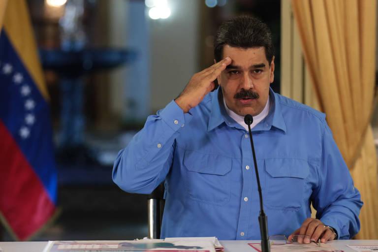 O ditador venezuelano Nicolás Maduro durante discurso sobre a situação econômica do país no início de setembro