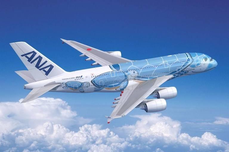 Aviões da Airbus com pinturas temáticas