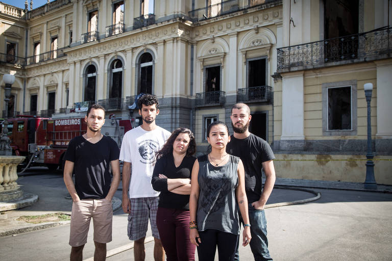 Marco Antonio Menezes, Arthur da Costa, Roberta Veroneses, Rodrigo Veloso e Ivyn Souza are all graduates students who lost their research in the National Museum fire on Sunday.