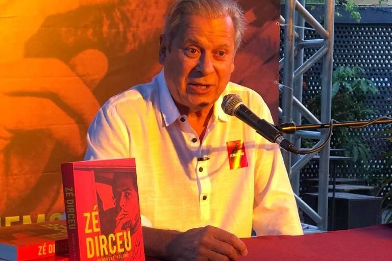 Em lançamento de autobiografia, Dirceu culpa Justiça pela crise política