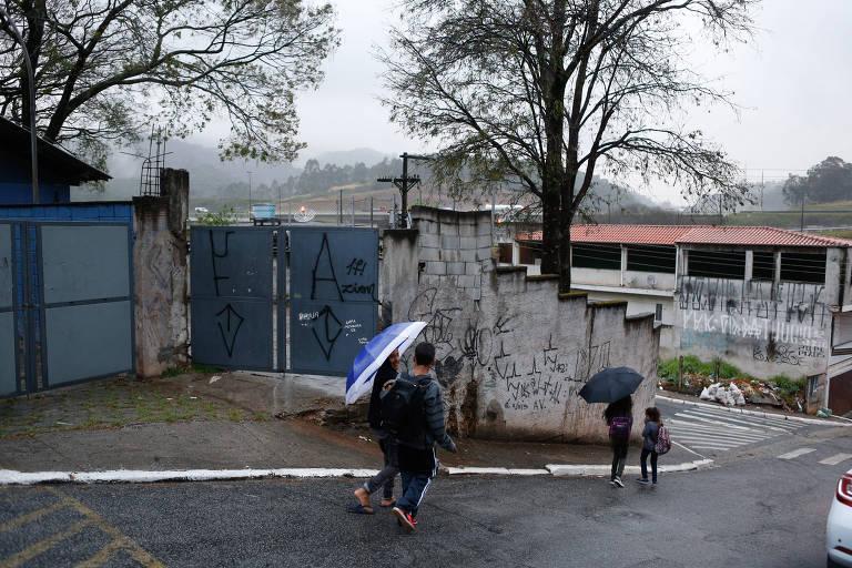A escola professora Zoraide de Campos, no distrito de Anhanguera