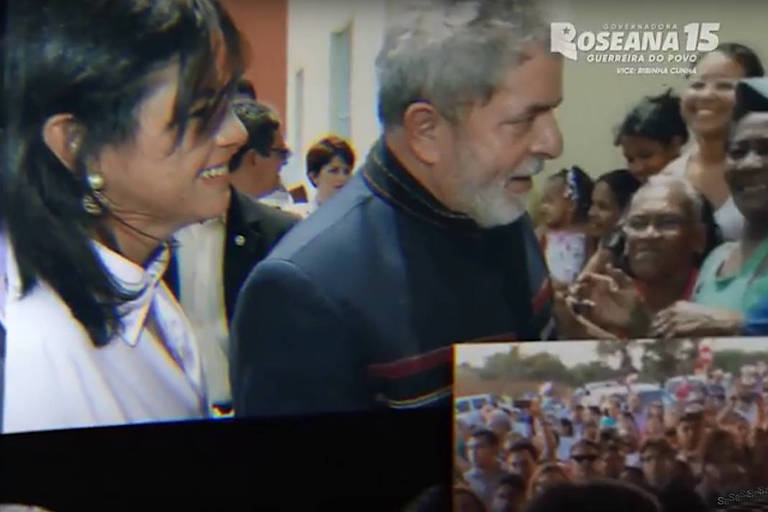 Roseana Sarney mostra foto ao lado de Lula na propaganda