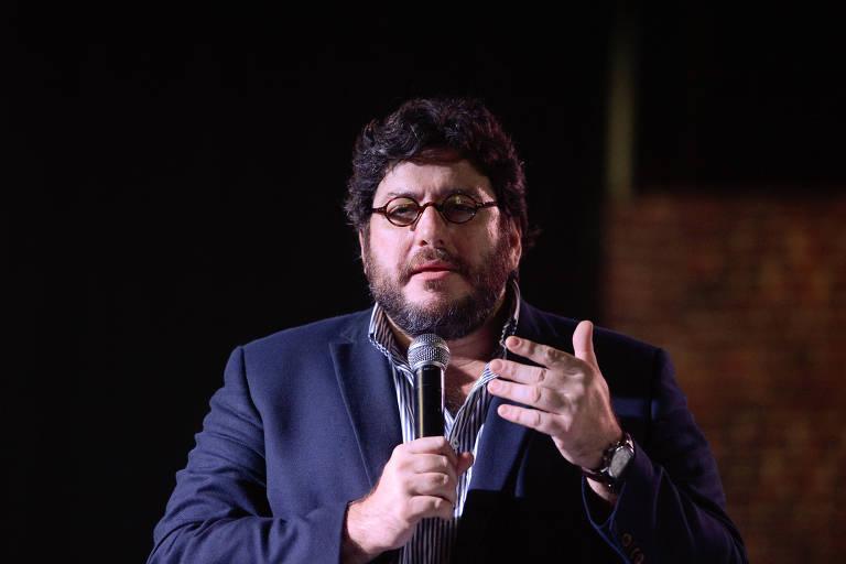 O então ministro da Cultura argentino, Pablo Avelluto, durante evento na Escola Nacional de Circo, no Rio, em março