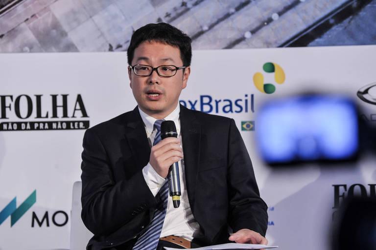 Yu Yong, consul comercial do Consulado Geral da China em São Paulo, durante seminário