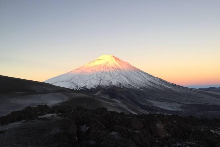 O vulcão Lonquimay e esqui no Chile