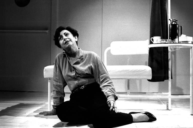 "Beatriz Segall durante ensaio da peça ""Lilian"", no Teatro Cultura Artística"