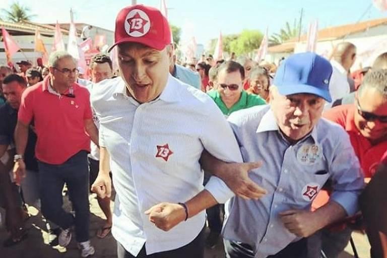O governador da Bahia, Rui Costa (PT), que disputa a reeleição