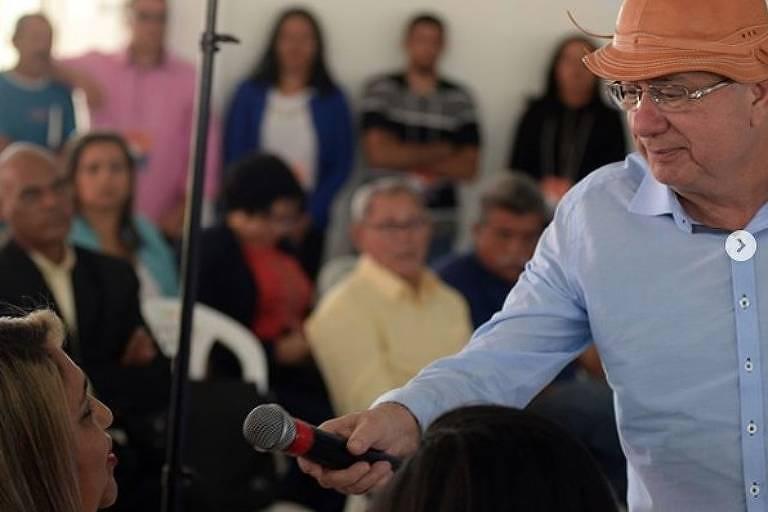 O candidato do DEM ao Governo da Bahia, o ex-prefeito de Feira de Santana José Ronaldo
