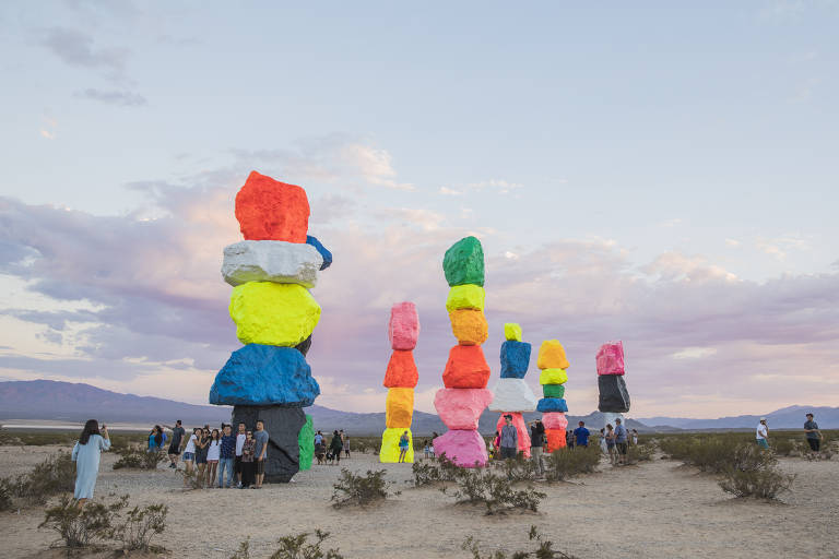 Cores no deserto de Las Vegas
