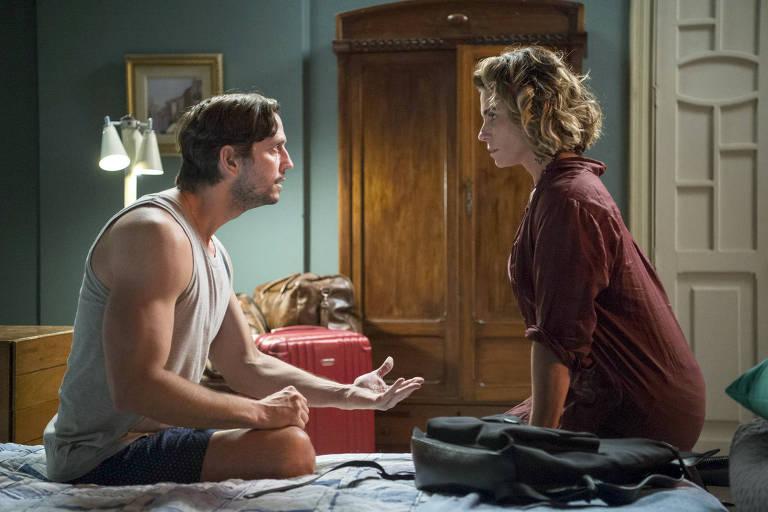 Remy (Vladimir Brichta) revela a Luzia (Giovanna Antonelli) que seu filho com Beto (Emilio Dantas) está vivo