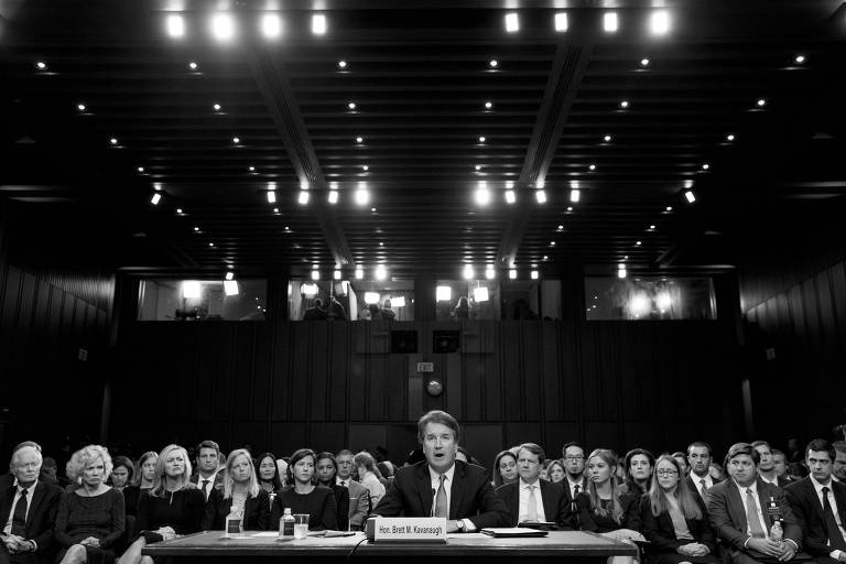 Brett Kavanaugh, indicado para a Suprema Corte, durante audiência no Senado americano