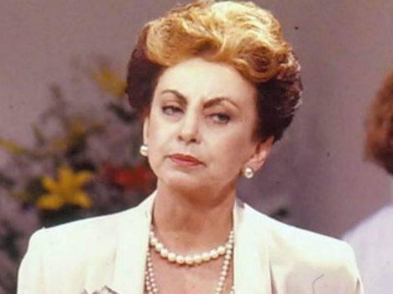 Beatriz Segall in her most notable role: snobby socialite Odete Roitman in telenovela Vale Tudo